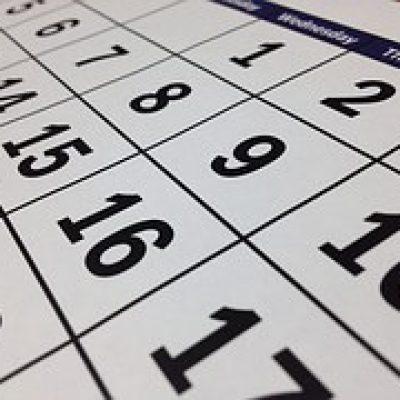 October 2017 Calendar of Events